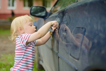 boy opens car
