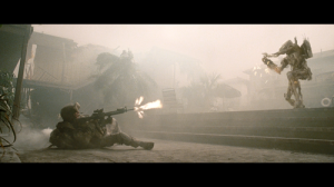 US Soldier vs a mechanical extraterrestrial bent of exterminating mankind