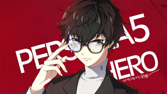 Put a thunderbolt on his forehead and he'll look like someone straight out of Hogwarts. Let's hope he's as awesome as Minato (Persona 3) and Yu (Persona 4).