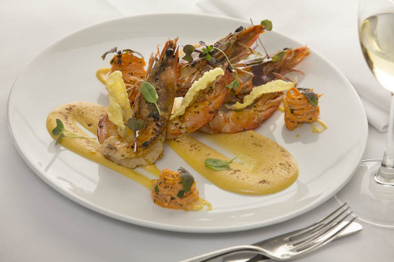 Prawn with béarnaise sauce.