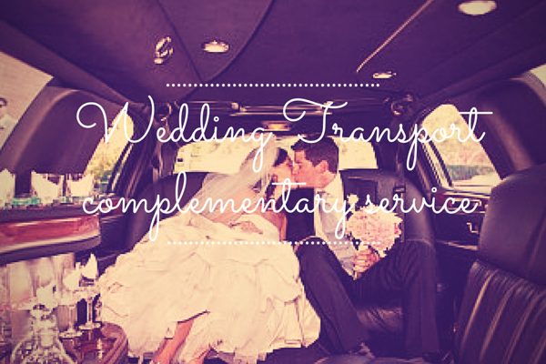 Wedding Transport Complementary Service