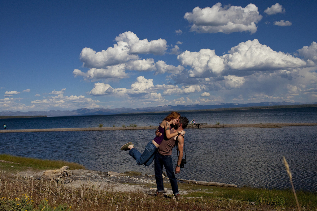 couple in a national park