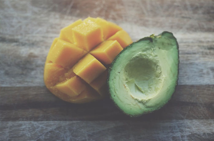 Avocado and mango - healthy life
