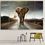 Elephant minimalist decoration