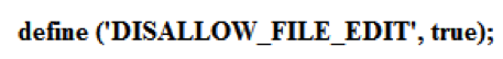 disallow file edit